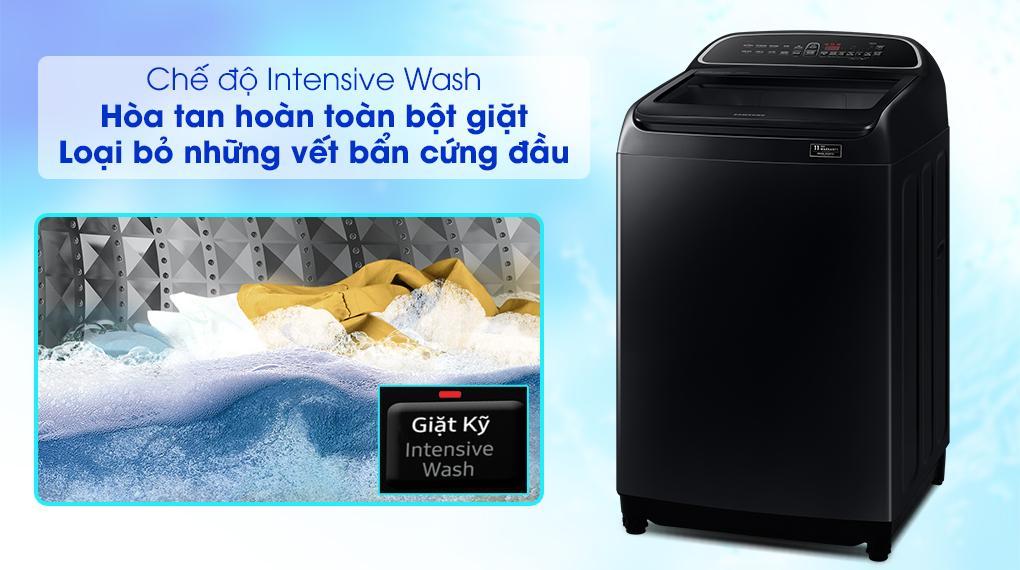 Máy giặt Samsung WA10T5260BV/SV với chức năng Intensive Wash loại bỏ những vết bẩn cứng đầu nhất