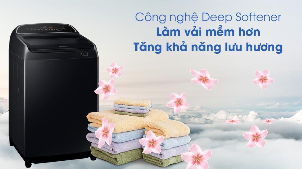 Máy giặt Samsung WA10T5260BV/SV trang bị công nghệ Deep Softener giúp tăng khả năng lưu hương trên quần áo