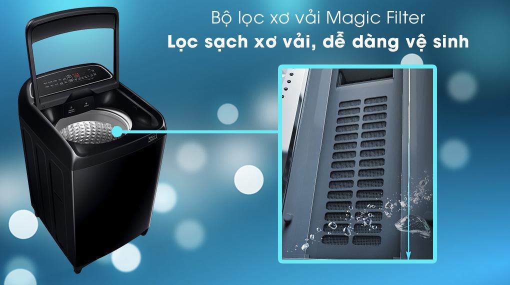 Máy giặt Samsung WA10T5260BV/SV lọc bỏ sơ vải tối đa với trang bị Magic Filter