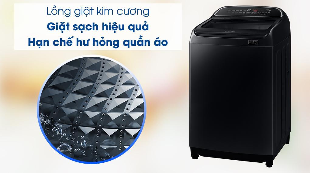 Máy giặt Samsung WA10T5260BV/SV trang bị lồng giặt kim cương giặt sạch hơn và tránh hư tổn quần áo hiệu quả