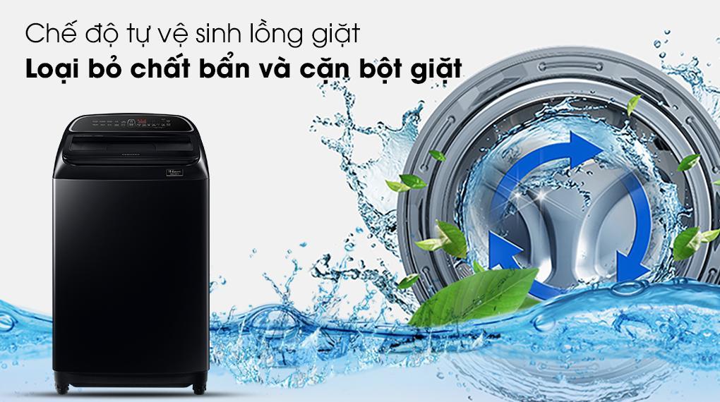 Máy giặt WA10T5260BV/SV cóchức năng tự vệ sinh lồng giặt tiện lợi, bảo vệ máy giặt tối đa