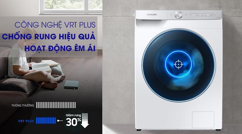 Máy giặt Samsung WW90TP54DSH/SV mang đến công nghệ VRT Plus giảm ồn hoạt động êm ái