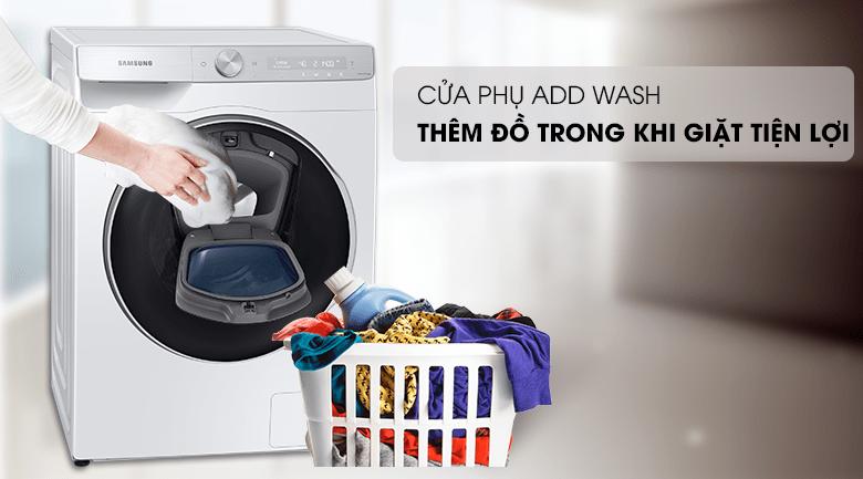 Máy giặt Samsung WW90TP54DSH/SV trang bị cửa phụ Add Wash tiện lợi cho mỗi lần quên đồ giặt