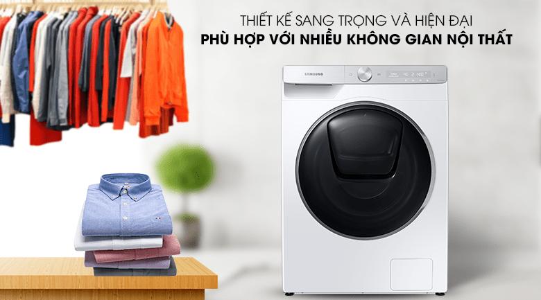 Máy giặt Samsung WW90TP54DSH/SV mang đến thiết kế tinh tế và sang trọng, phù hợp nhiều không gian