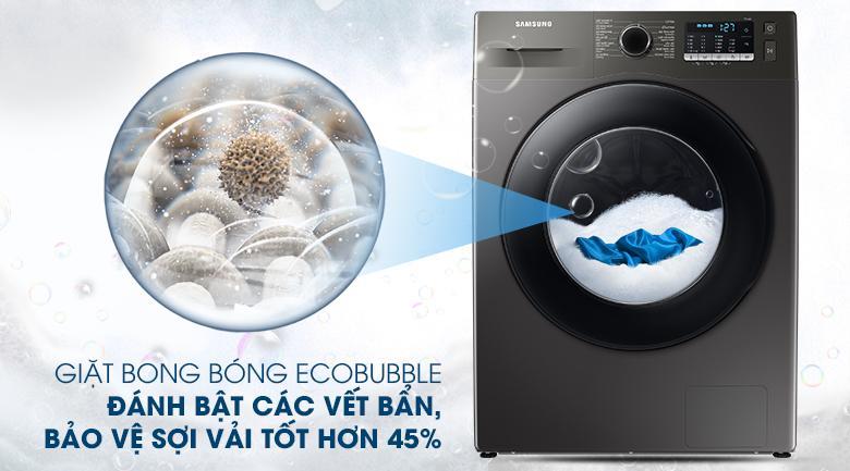 Máy giặt Samsung WW95TA046AX/SV trang bị công nghệ giặt bong bóng siêu mịn EcoBubble sạch sâu hơn