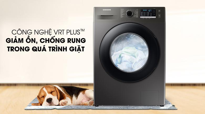Máy giặt Samsung WW95TA046AX/SV nhờ có công nghệ VRT Plus™ chống rung và giảm ồn tốt hơn 30%