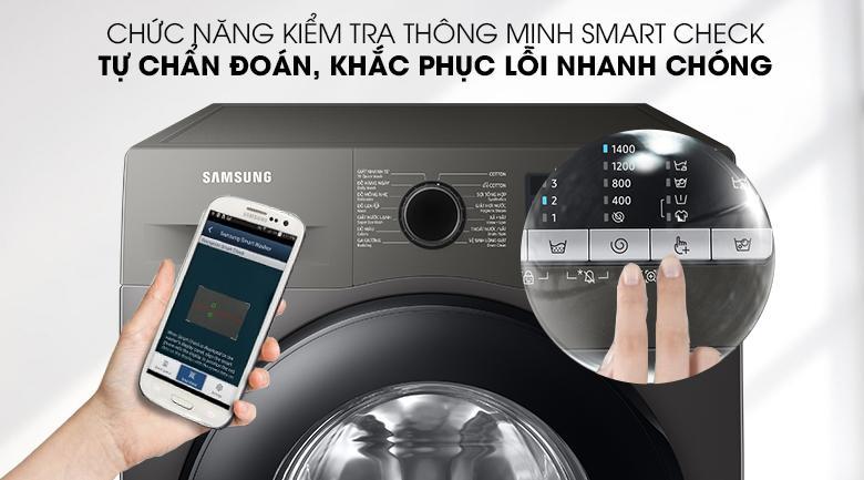 Máy giặt WW95TA046AX/SV với tính năng Smart Check có thể chuẩn đoán và khắc phục sự cố siêu tốc