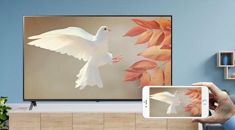 50UP7550PTC trình chiếu hình ảnh lên tivi