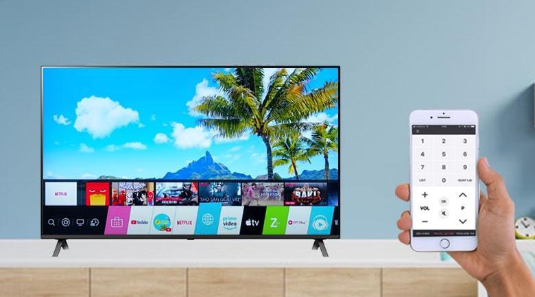 điều khiển tivi LG 55UP7550 bằng điện thoại