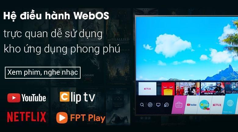 hệ điều hành WebOS trực quan, dễ sử dụng