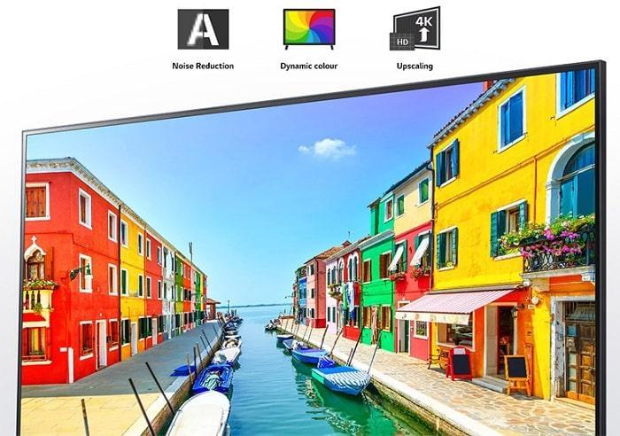 Tivi LG 43NANO77TPA bộ lõi tứ nâng cao chất lượng hình ảnh