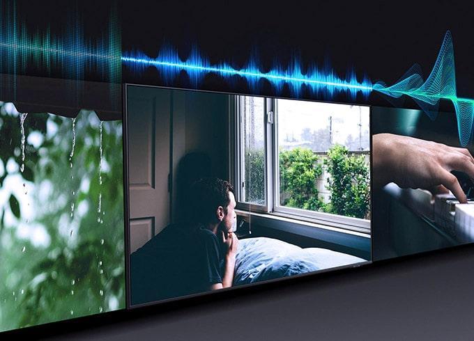 43Q60A âm thanh tự điều chỉnh theo nội dung