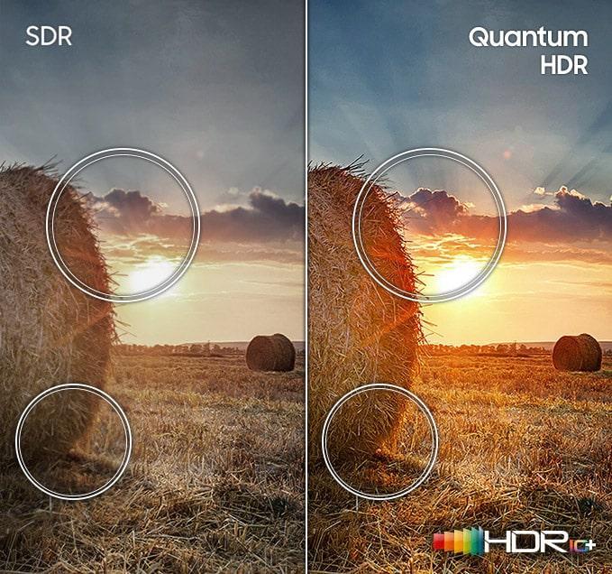 55Q60A tăng cường độ tương phản với Quantum HDR