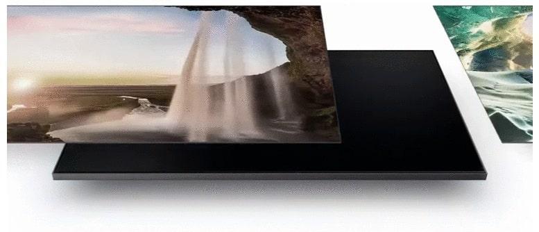 55Q60A tông màu nền thay đổi phù hợp với ảnh