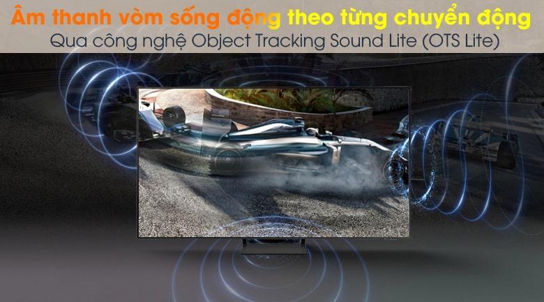Tivi QA50Q65A mang đến âm thanh vòm sống động theo từng chuyển động