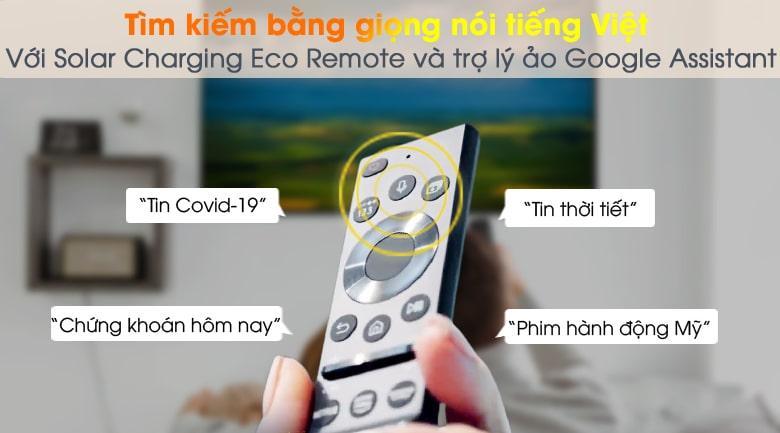 Tivi QA50Q65AĐiều khiển tivi bằng giọng nói tiếng Việt 3 miền qua One Remote và Google Assistant