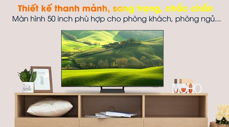 Tivi Samsung QA 50Q65A mang đến thiết kế sang trọng với màn hình tràn viền 4 cạnh ấn tượng