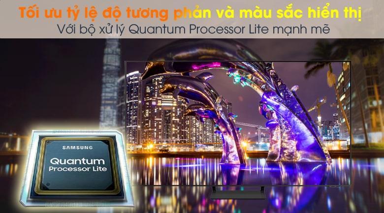 Tivi QA 50Q65A với bộ xử lý Quantum Processor Lite giúp tự động điều chỉnh màu sắc