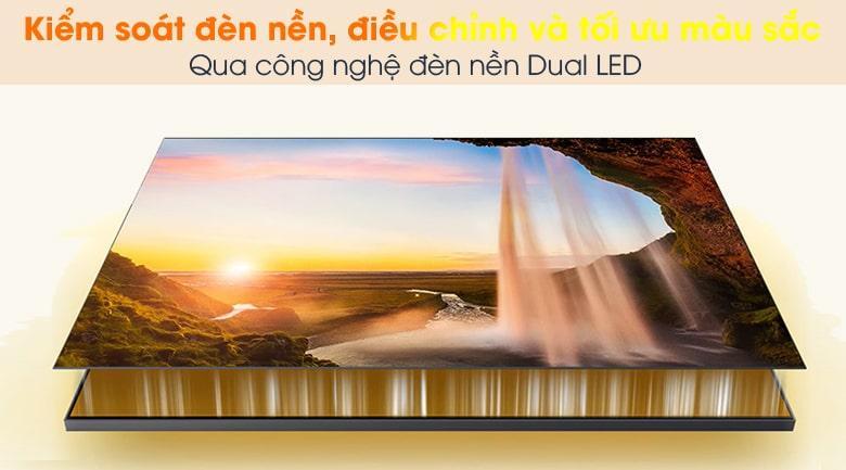 Tivi QA50Q65A mang đến khả năng kiểm soát đèn nền hiệu quả nhờ công nghệ Dual LED
