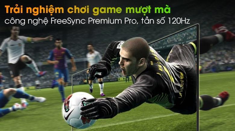 Tivi QA 55QN90A giúp bạn có được trải nghiệm chơi game mượt mà với công nghệ FreeSync Premium Pro,Game Mottion Plus