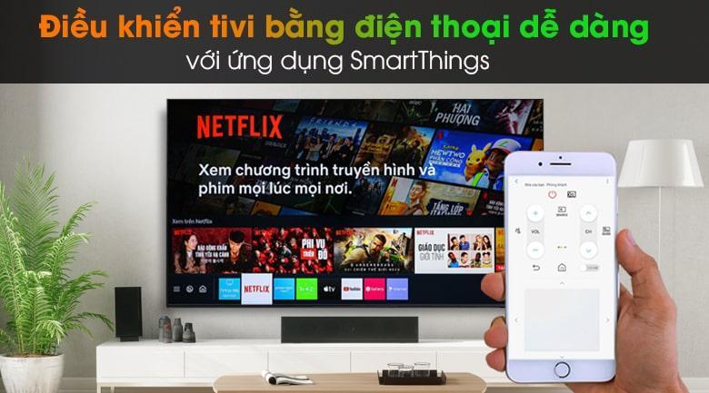 Ứng dụng SmartThings tiện lợi cho việc điều khiển tivi bằng điện thoại