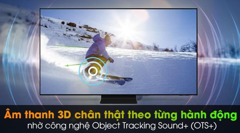 Tivi Samsung QA 55QN90A mang đến âm thanh vòm ấn tượng nhờ công nghệ Object Tracking Sound+