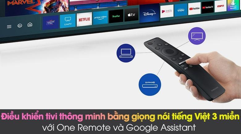 Tivi Samsung QA75QN85A hỗ trợ tìm kiếm bằng tiếng việt 3 miền