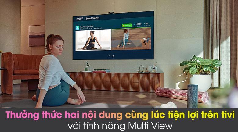 Tivi Samsung QA 75QN85A giúp bạn dễ dàng thưởng thức hai nội dung giải trí trên màn hình tivi với tính năng Multi View