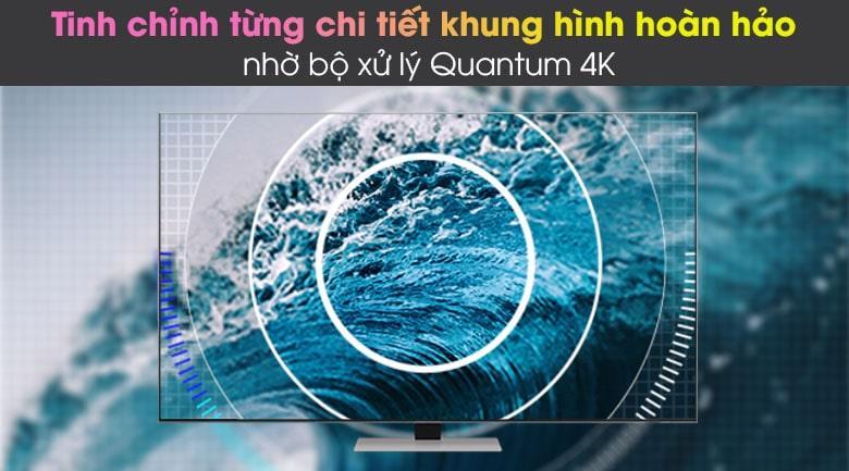 Tivi Qled QA 75QN85A giúp nó tự tinh chỉnh từng khung hình hoàn hảo nhờ bộ xử lý Quantum 4K