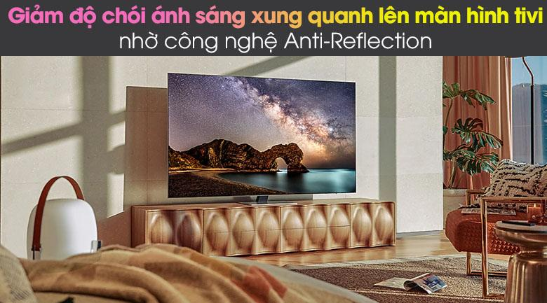 Tivi Samsung QA 75QN85A giúp giảm độ chói ánh sáng xung quanh tối đa nhờ công nghệ Anti-Reflection