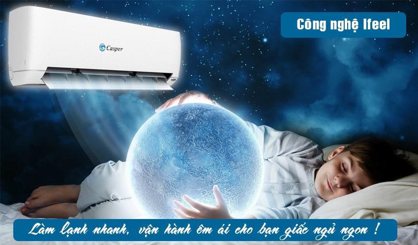 Điều hòa Casper EH-12TL22 vận hành êm ái cho giấc ngủ sâu