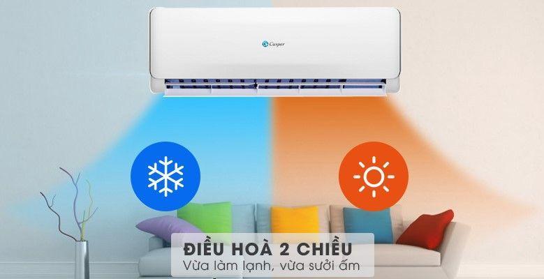Điều hòa Casper EH-09TL22 điều hòa 2 chiều vừa làm lạnh, vừa sưởi ấm