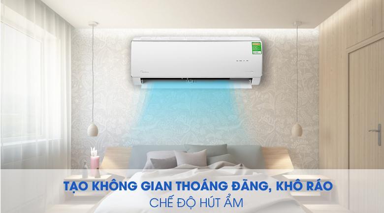 Điều hoà Midea MSAFA-13CRDN8 trang bị chức năng hút ẩm đảm bảo căn phòng bạn luôn khô ráo