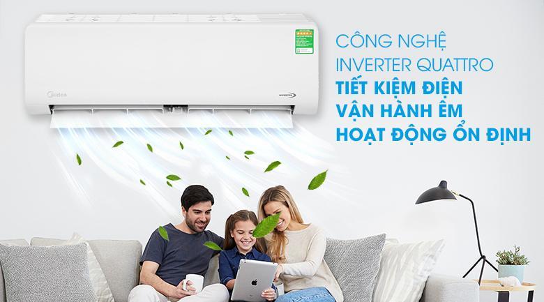 Điều hoà Midea MSAG-10CRDN8 trang bị công nghệ Inverter tiết kiệm điện cho mọi gia đình