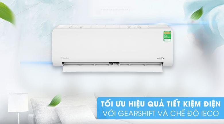 Điều hoà Midea MSAG-10CRDN8 với GearShift và iEco tối ưu tiết kiệm điện hơn