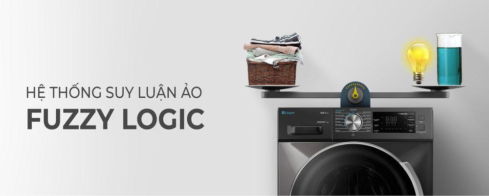 Máy giặt Casper WF-105I150BGB có suy luận ảo Fuzzy Logic rất thông minh
