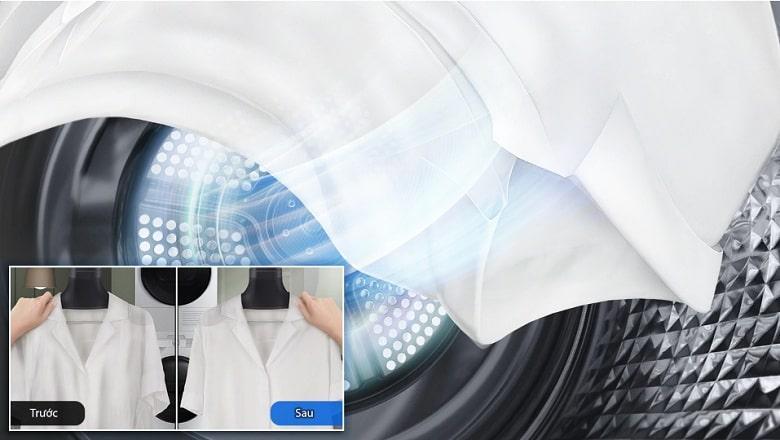 DV90T7240BB chống nhăn quần áo hiệu quả