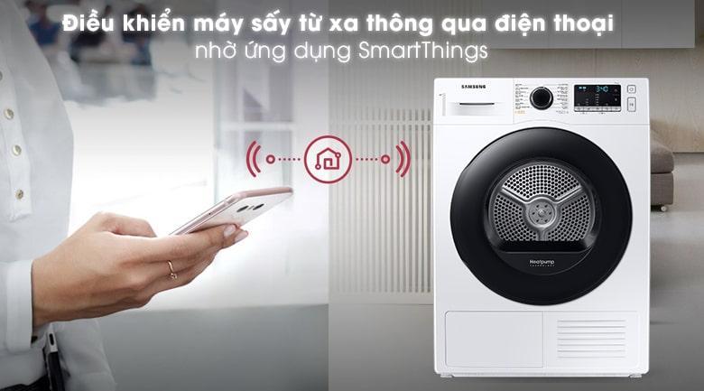 điều khiển máy sấy từ xa thông qua điện thoại nhờ ứng dụng smart things
