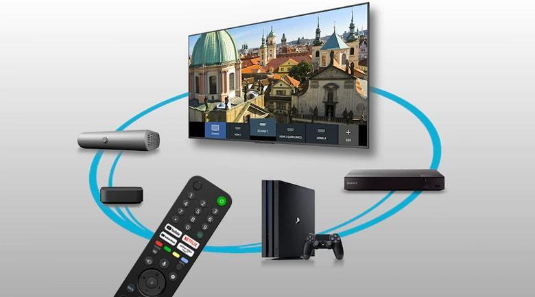 Tivi sony 43X80J điều khiển tivi bằng giọng nói dễ dàng