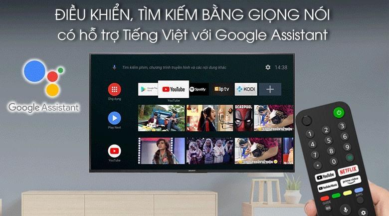 65X80J điều khiển, tìm kiếm bằng giọng nói có hỗ trợ tiếng Việt
