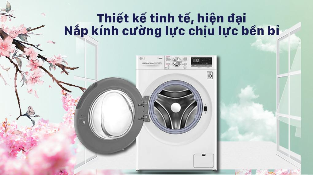 Máy giặt LG FV1450S3W2 là mẫu máy giặt có thiết kế hiện đại bậc nhất hiện nay