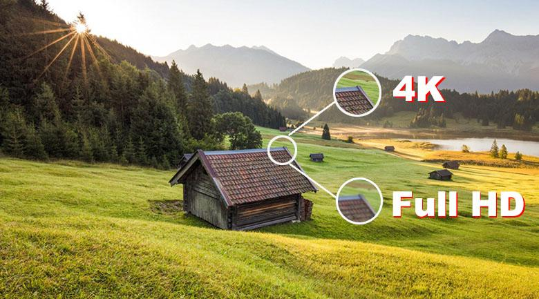 hiển thị hình ảnh sắc nét gấp 4 lần độ phân giải full HD