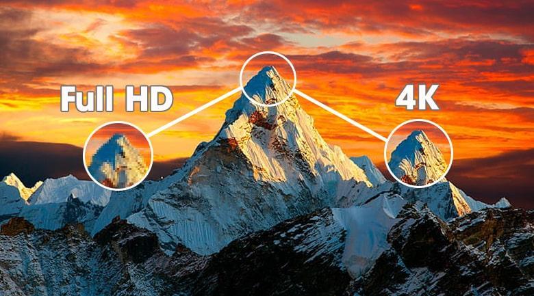 độ phân giải 4K cho hình ảnh sắc nét