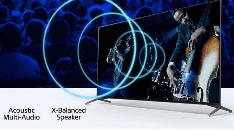 XR-65X90J âm thanh phát ra từ màn hình hoành tráng
