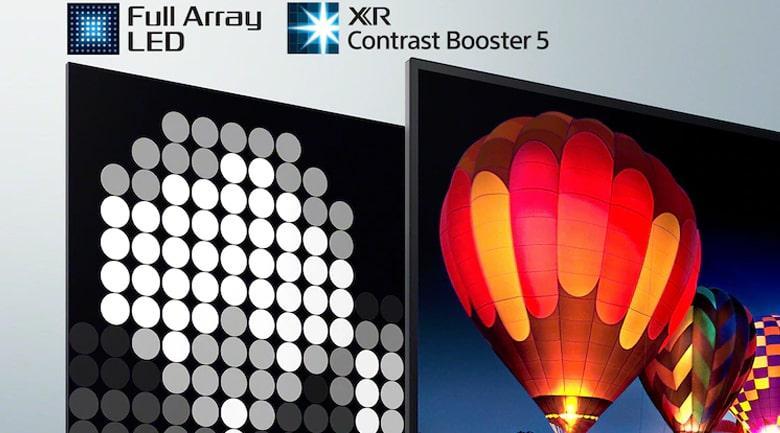 XR-75X90J tăng cường độ tương phản với công nghệ led full array LED