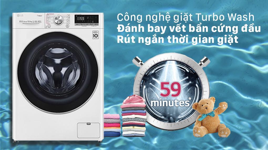 Chắc chắn bạn sẽ tiết kiệm thời gian giặt tối đa và khả năng giặt sạch nhanh hơn nhờTurbo Wash