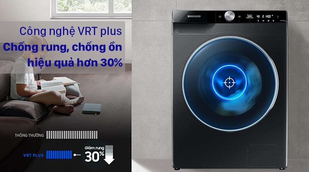 Máy giặt WW10TP54DSB/SV sở hữu công nghệ VRT Plus nên không gây tiếng ồn, rất êm ái