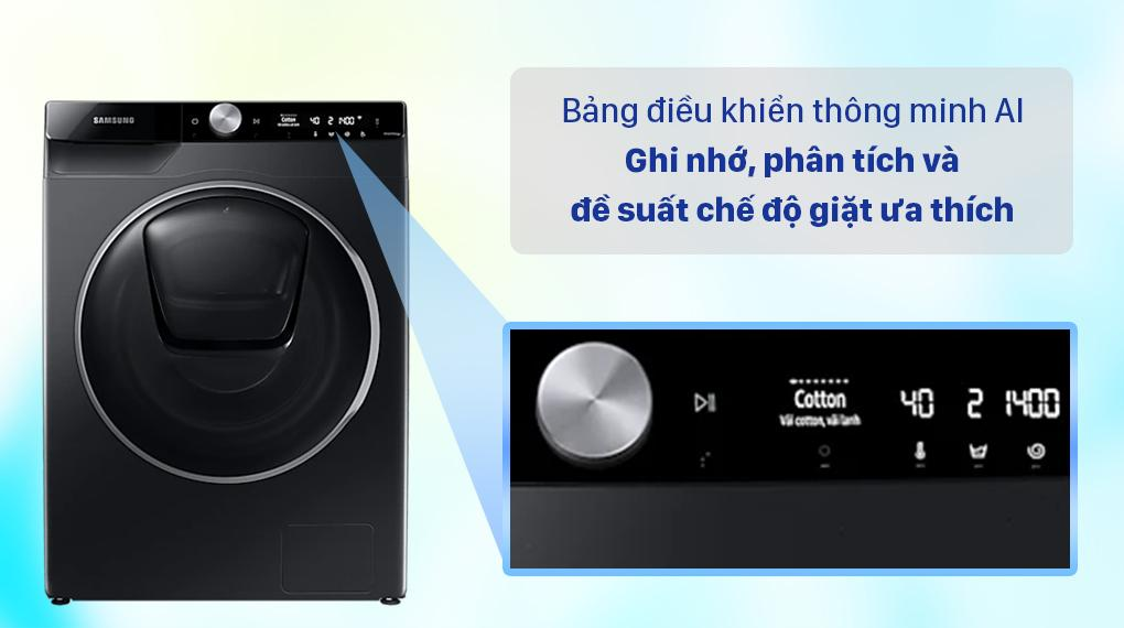 Máy giặt Samsung WW10TP54DSB/SV giúp bạn ghi nhớ và đề xuất chế độ giặt nhờ AI Control hết sức thông minh