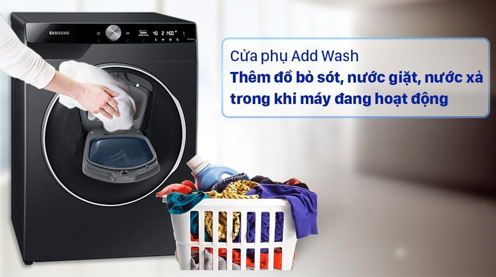 Máy giặt Samsung Inverter 10 Kg WW10TP54DSB/SV trang bị cửa phụ Add Wash rất tiện lợi và hữu ích