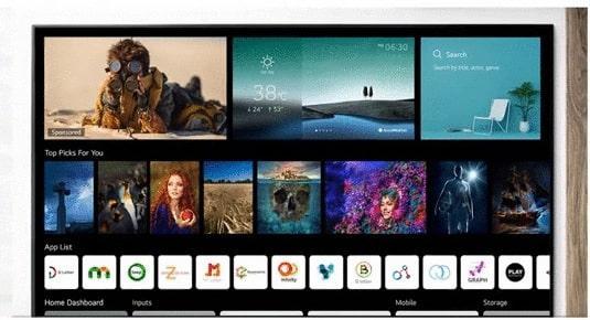 Tivi LG 55UP7720 cho kho ứng dụng phong phú